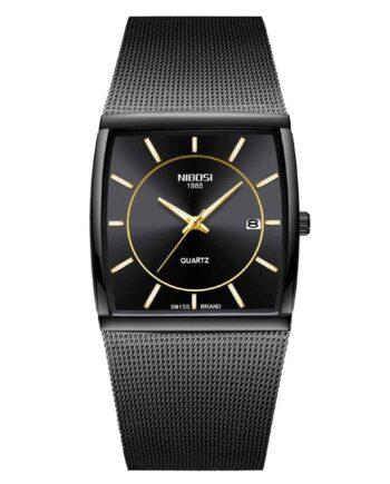Đồng hồ NIBOSI 2338 màu đen kim vàng